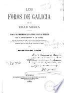 Los foros de Galicia en la Edad Media