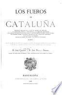 Los fueros de Cataluña