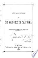Los oríjenes de San Francisco de California