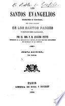 Los Santos Evangelios, traducidos al Castellano, con notas ... por el Rmo. P. M. Anselmo Petite ... Nueva edición, con láminas
