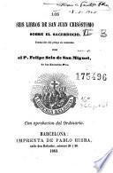 Los Seis libros de San Juan Crisóstomo sobre el sacerdocio
