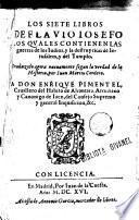 Los siete libros de Josep Flavi