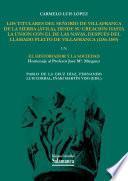 Los titulares del señorío de Villafranca de la Sierra (Ávila), desde su creación hasta la unión con el de las navas, después del llamado pleito de Villafranca (1256-1389)