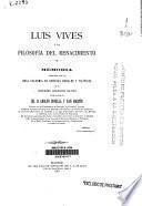 Luis Vives y la filosofía del Renacimiento