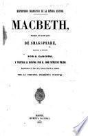 Macbeth, tragedia en cuatro actos de Shakspeare, traducida al italiano por G. Carcono, y vertida al español por D. José Núñez de Ṕrado, etc