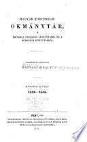 Magyar történelmi okmánytár, a Brüsseli országos levéltárból és a Burgundi könyvtárból. 1. 1441 - 1538