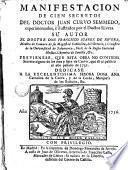 Manifestación de cien secretos del doctor Juan Curvo Semmedo