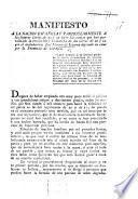 Manifiesto á la Nacion Española particularmente á las futuras Córtes de 22 y 23 sobre las causas que han paralizado la revolucion y la marcha de las Córtes de 22 y 21, etc