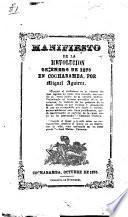Manifiesto de la revolución de enero de 1875 en Cochabamba