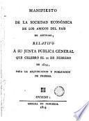 Manifiesto de la Sociedad Económica de los Amigos del País-Asturias