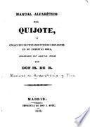 Manual alfabético del Quijote