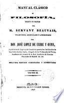 Manual clásico de Filosofía escrito en francés