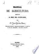 Manual de agricultura, etc