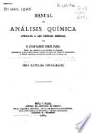 Manual de análisis química aplicada a las ciencias médicas