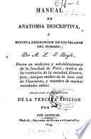 Manual de anatomía descriptiva, ó Sucinta descripción de los órganos del hombre