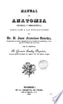 Manual de anatomía general y descriptiva