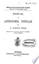 Manual de astronomía popular