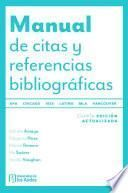 Manual de citas y referencias bibliográficas