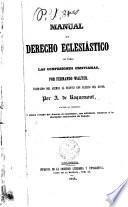 Manual de Derecho Ecclesiástico