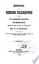 Manual de derecho eclesiástico de todas las confesiones cristianas