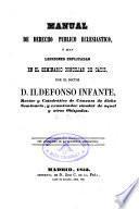 Manual de Derecho Públicom Ecclesiástico