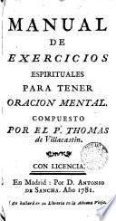 Manual de exercicios espirituales para tener oracion mental