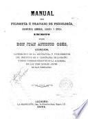 Manual de filosofía o Tratado de psicología, gramática general, lógica y ética