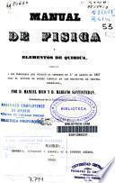 Manual de física y elementos de química
