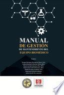 Manual de gestión de mantenimiento del equipo biomédico