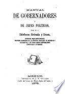 Manual de gobernadores y de jefes politicos