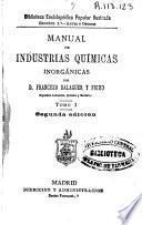 Manual de industrias químicas inorgánicas