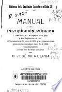 Manual de Instrucción Pública