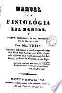 Manual de la fisiología del hombre