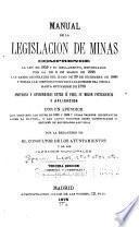Manual de la legislacion de minas