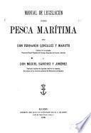 Manual de legislación sobre pesca marítima
