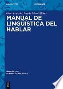 Manual de lingüística del hablar