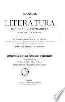 Manual de literatura nacional y extranjera, antigua y moderna, 1 part