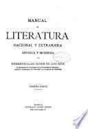 Manual de literatura nacional y extranjera