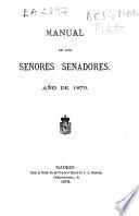 Manual de los señores senadores