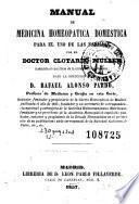 Manual de medicina homeopatica domestica para el uso de las familias