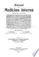 Manual de medicina interna: Enfermedades de los aparatos digestivo, respiratorio y circulatorio; Tomo 3 Enfermedades de las glándulas de secreción interna, de la sangre, de la nutrición, infecciosas y parasitarias, avitaminosis, cáncer