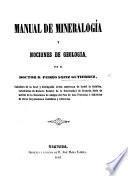 Manual de mineralogía y nociones de geología