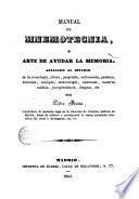 Manual de mnemotecnia, ó, Arte de ayudar la memoria