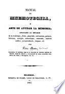 Manual de mnemotegnia; ó, arte de ayudar la memoria