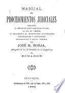 Manual de procedimientos judiciales