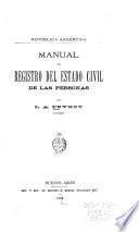 Manual de registro del estado civil de las personas
