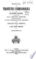 Manual de terapéutica farmacológica