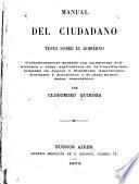 Manual del Ciudadano: teste sobre el gobierno ...