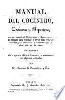 Manual del cocinero, cocinera y repostero