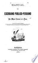 Manual del escribano publico-peruano